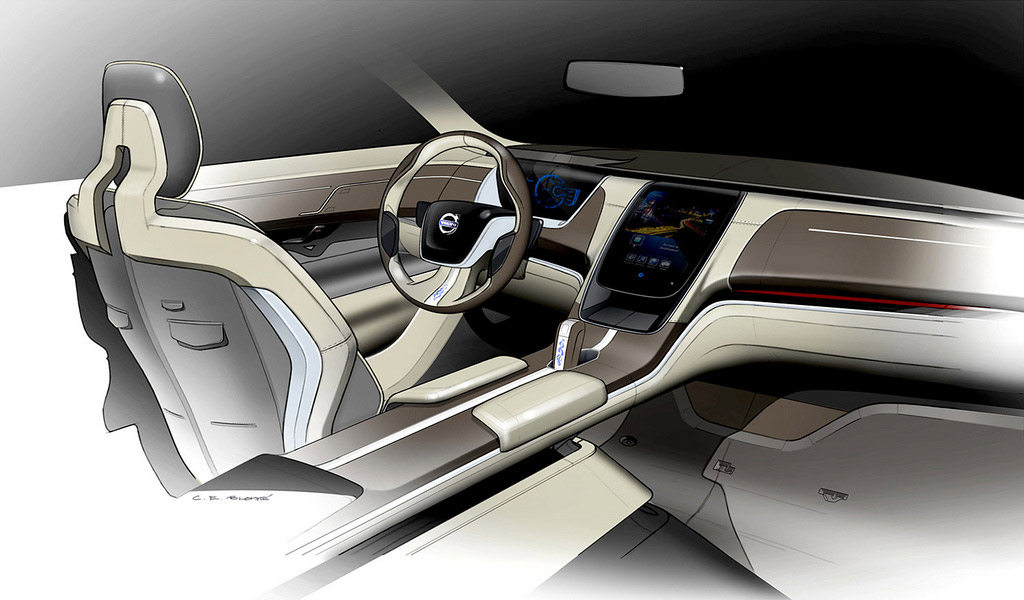 volvo concept you interior design sketch car body design. Black Bedroom Furniture Sets. Home Design Ideas