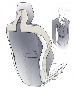Volvo Concept You Seat Design Sketch