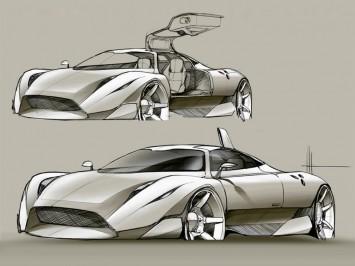 Supercar Concept Sketch Video Car Body Design