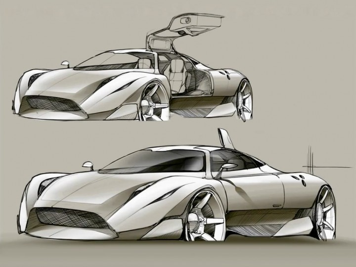 Supercar Concept Sketch Video