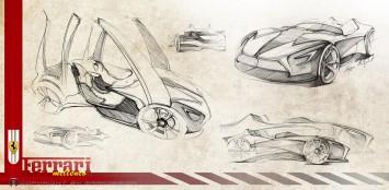 Ferrari Millennio Concept Design Sketches