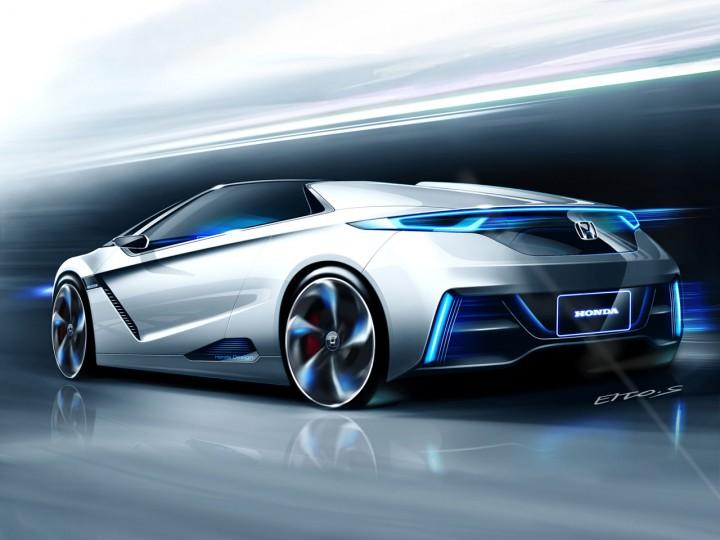 Honda small sports ev concept car body design for Sporty honda cars