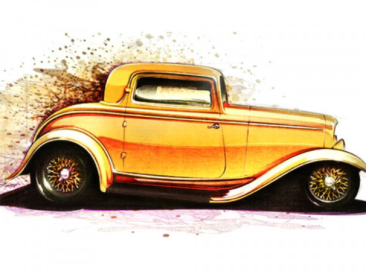 How to draw Hot Rods - Car Body Design
