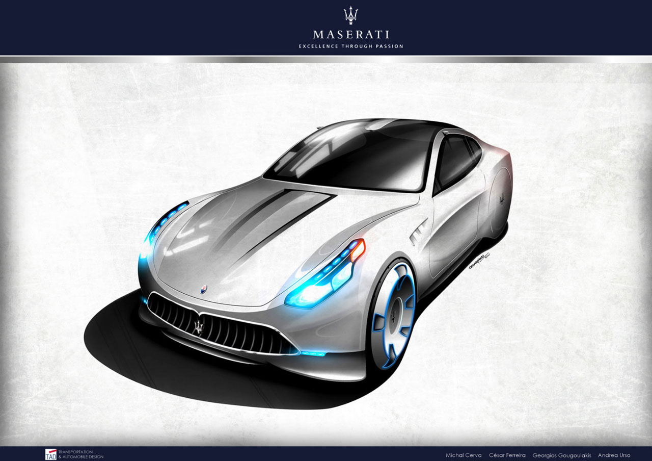 Maserati Granturismo Concept 2020 Design Sketch Car Body