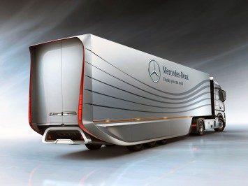 Mercedes-Benz has designed a new aerodynamic trailer which allows to