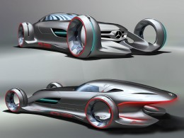 Mercedes-Benz Silver Arrow Concept Design Sketch