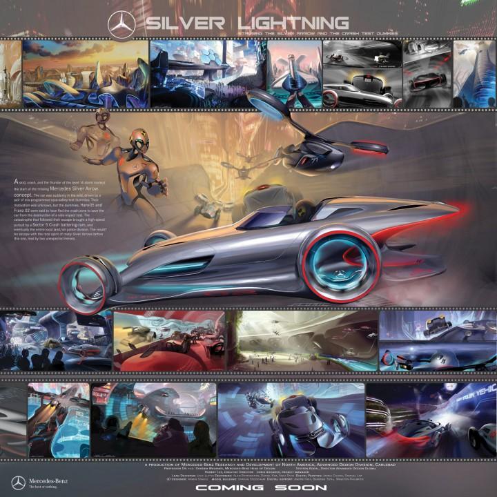 mercedes benz silver lightning poster - Mercedes Benz Silver Lightning Real