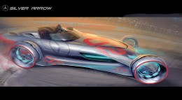 Mercedes Silver Arrow Concept Design Sketch