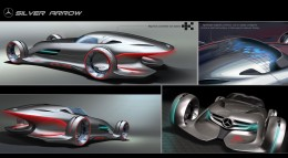 Mercedes Silver Arrow Concept Design Sketches