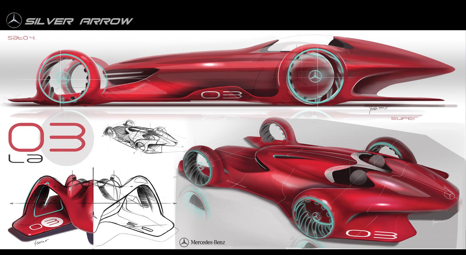 Mercedes Silver Arrow Concept Car Body Design