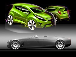 Cadillac Ciel and Chevy Spark Design Sketches