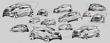 Chevrolet Spark Design Sketches