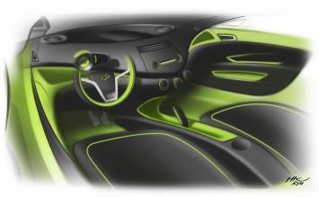 Chevrolet Spark Interior Design Sketch