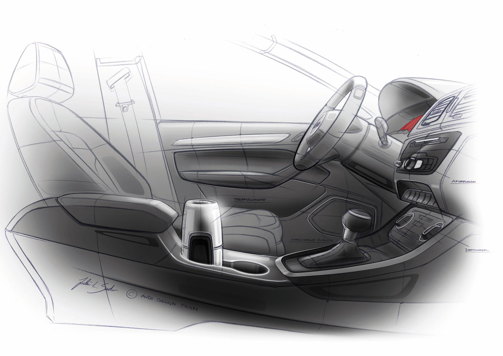 Audi Q3 Vail Interior Design Sketch Car Body Design