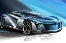 Concept Car Design Sketch by Nelson Barros