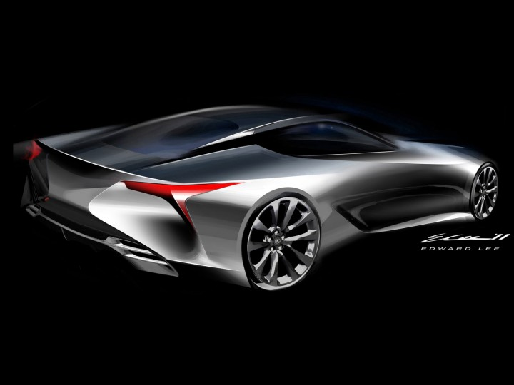 Lexus Lf Lc Concept Car Body Design