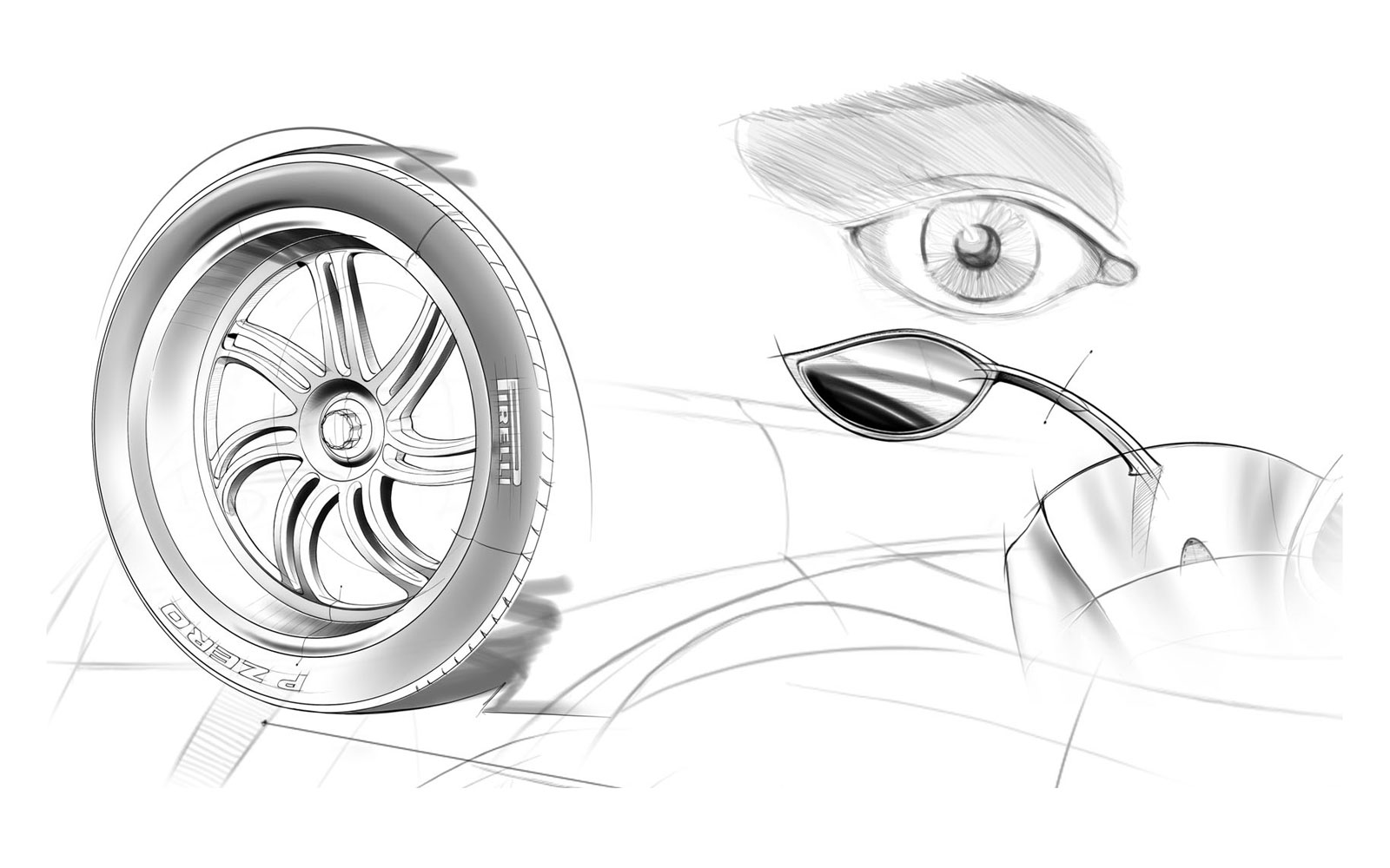 Pagani Huayra Design Sketch - Car Design