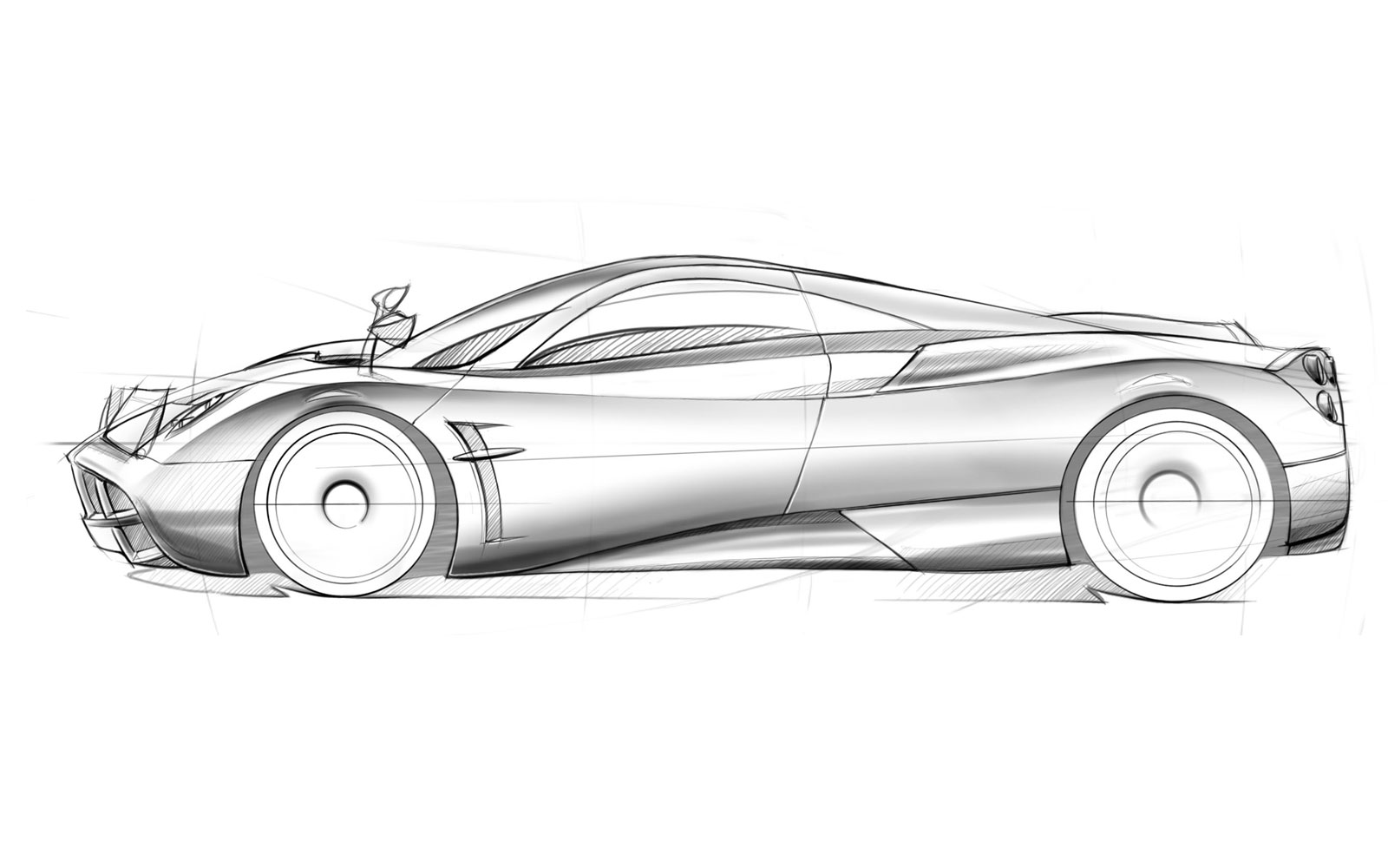 Pagani Huayra Design Sketch