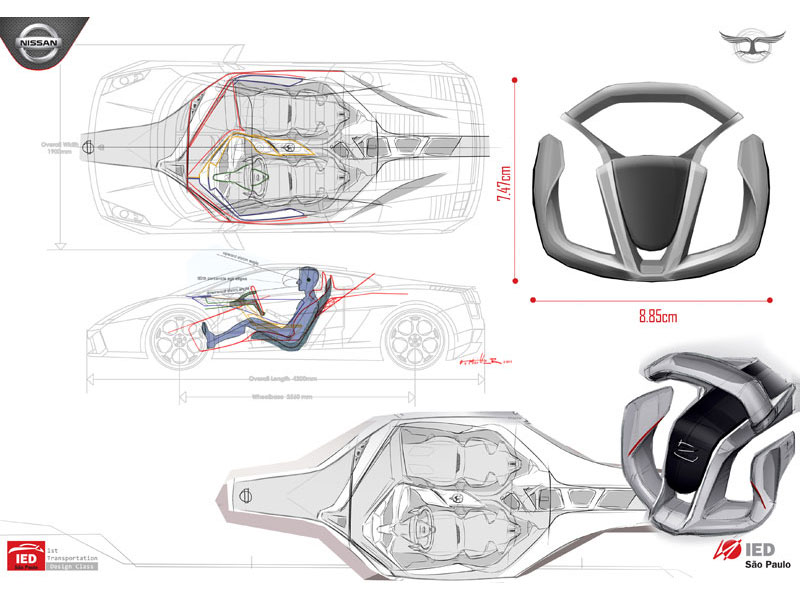 Two worlds in one nissan interior concept packaging car for Interior design concept package