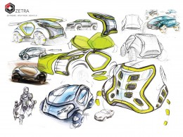 ZETRA Extreme Weather Vehicle Concept by Adis Sabic design sketches