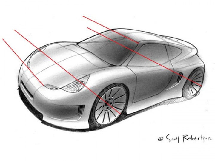 Perspective Drawing Tutorial - Car Body Design