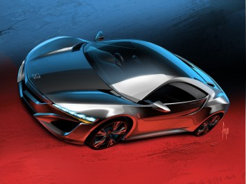 Honda NSX Concept: design sketch and updates