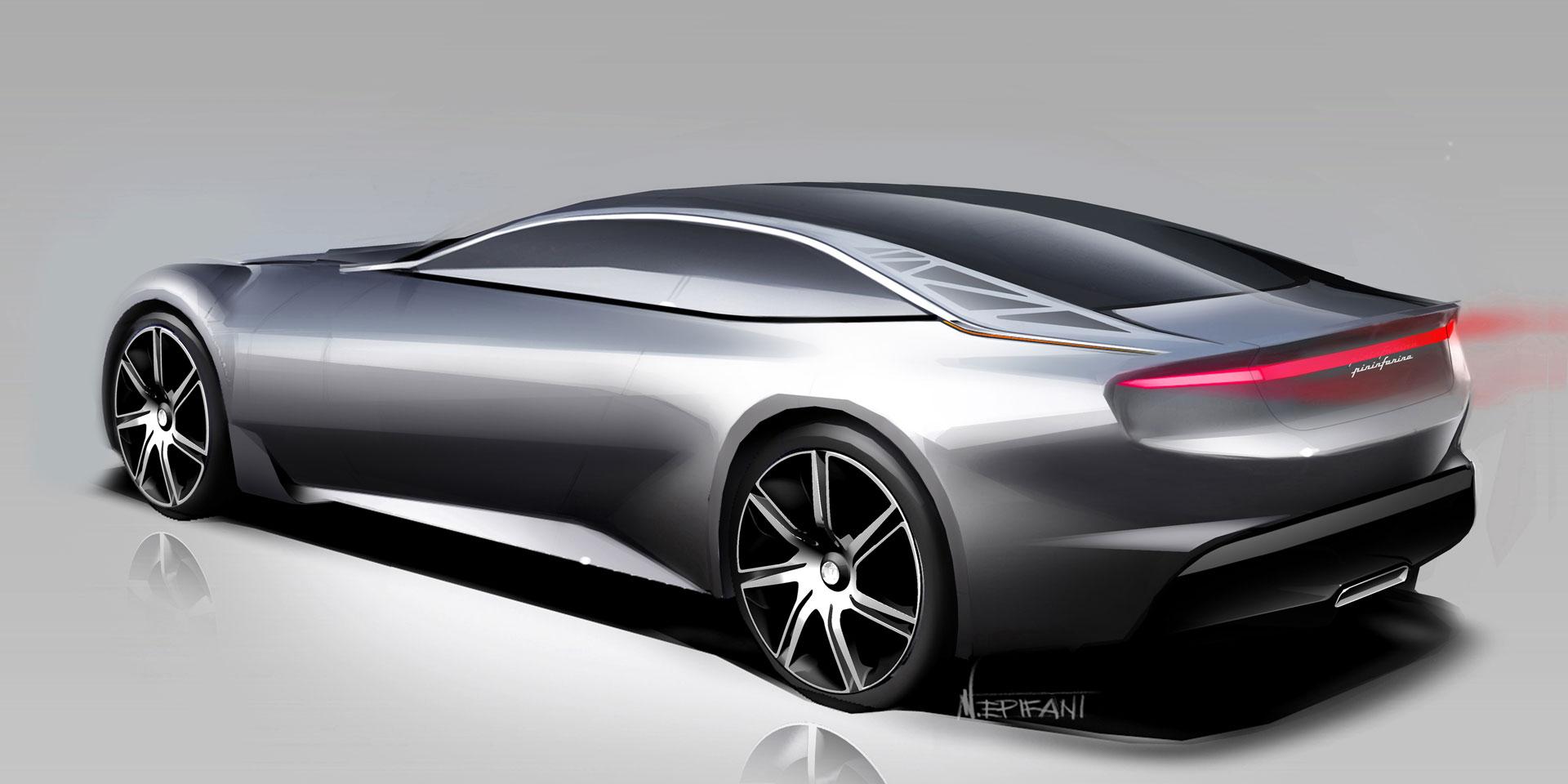 Pininfarina Cambiano Concept Design Sketch Car Body Design
