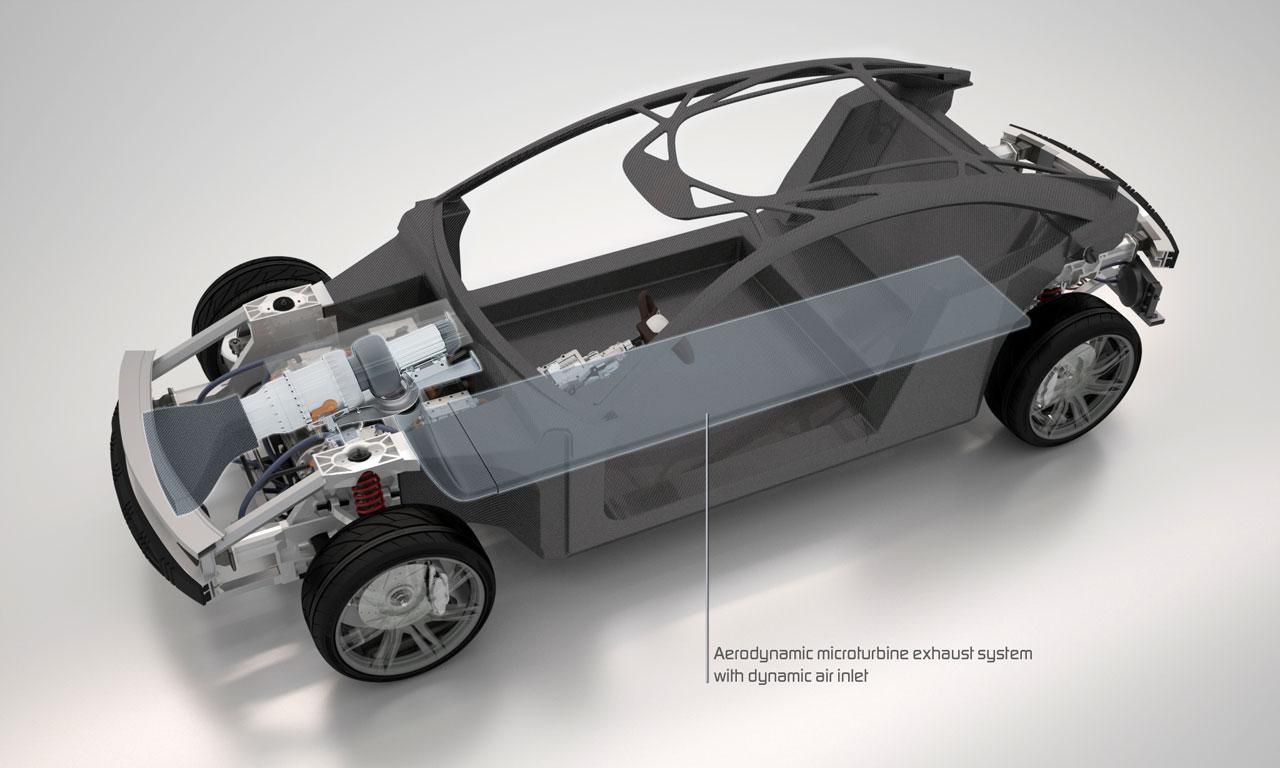 Design of car frame - Pininfarina Cambiano Concept Carbon Fiber Space Frame