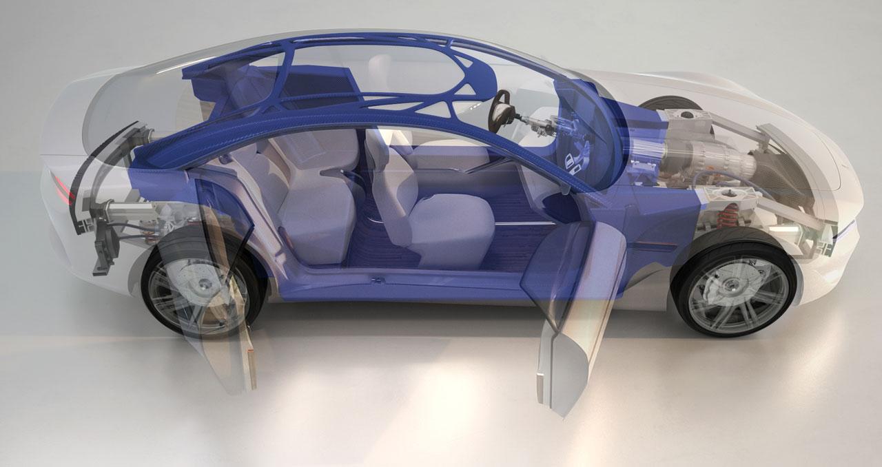 Pininfarina Cambiano Concept - Carbon Fiber Space Frame - Car Body ...