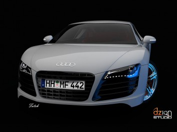 Audi R Free D CAD Model Car Body Design - Audi car 3d
