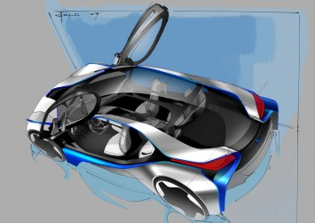 BMW Vision EfficientDynamics Concept sketch
