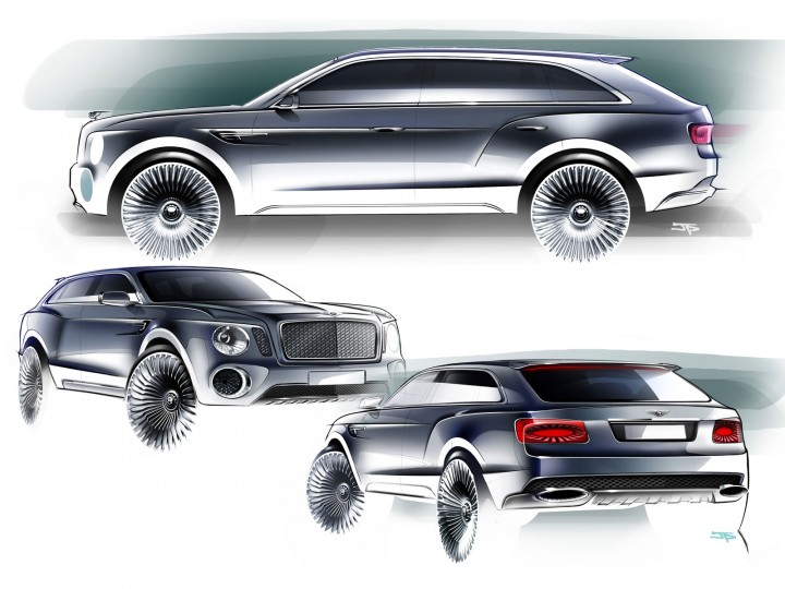 Bentley EXP 9 F Concept - Car Body Design