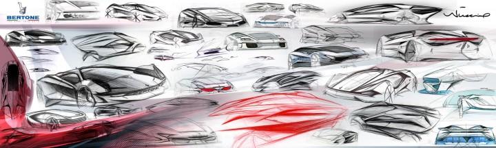 Bertone Nuccio Concept - Design Sketches