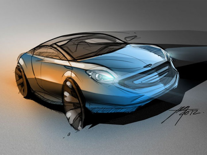 Car sketch in Photoshop – Part 2