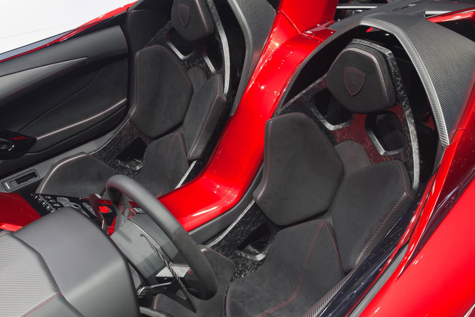 Lamborghini Aventador J - Seats - Car Design