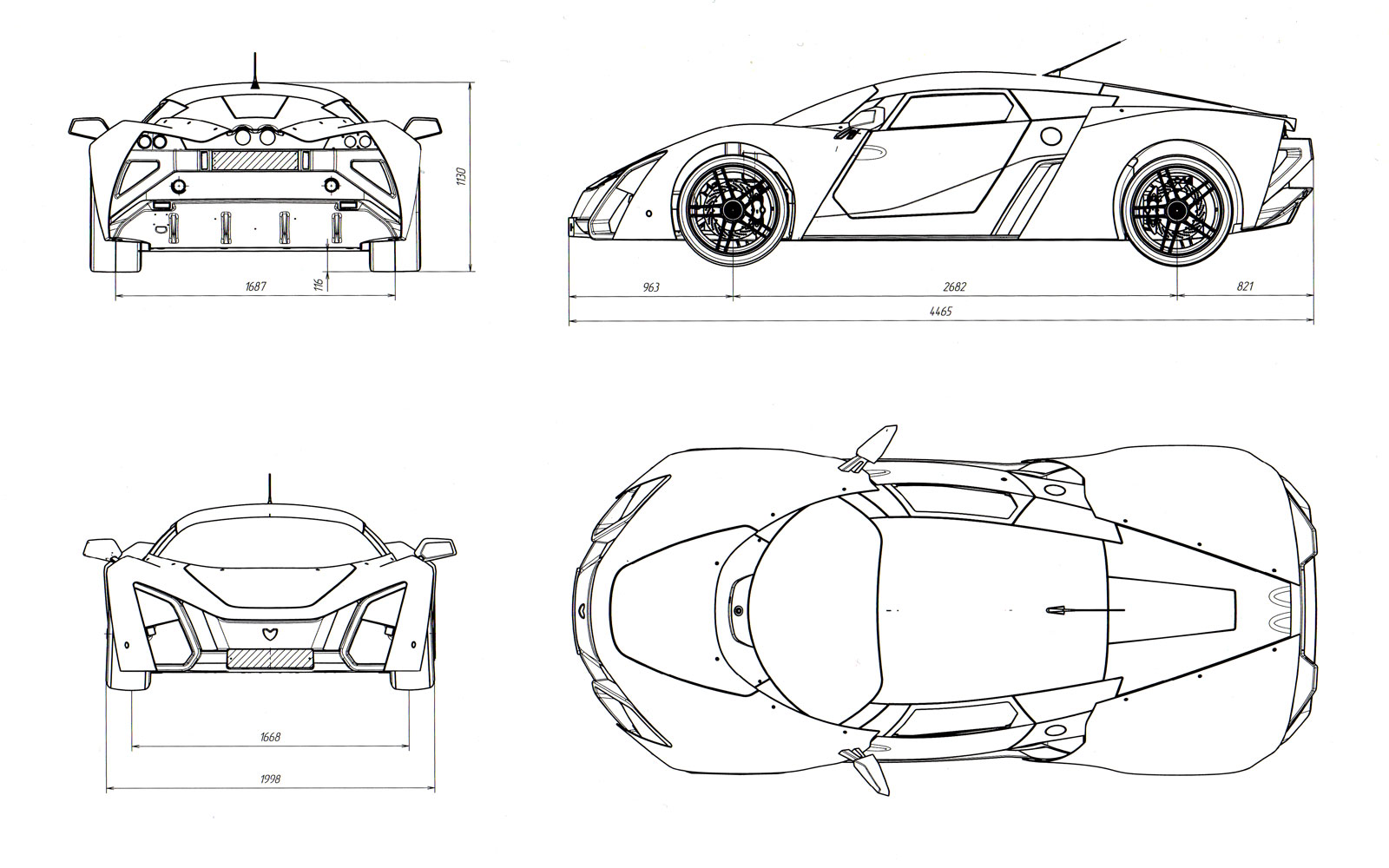Marussia B2   Blueprint