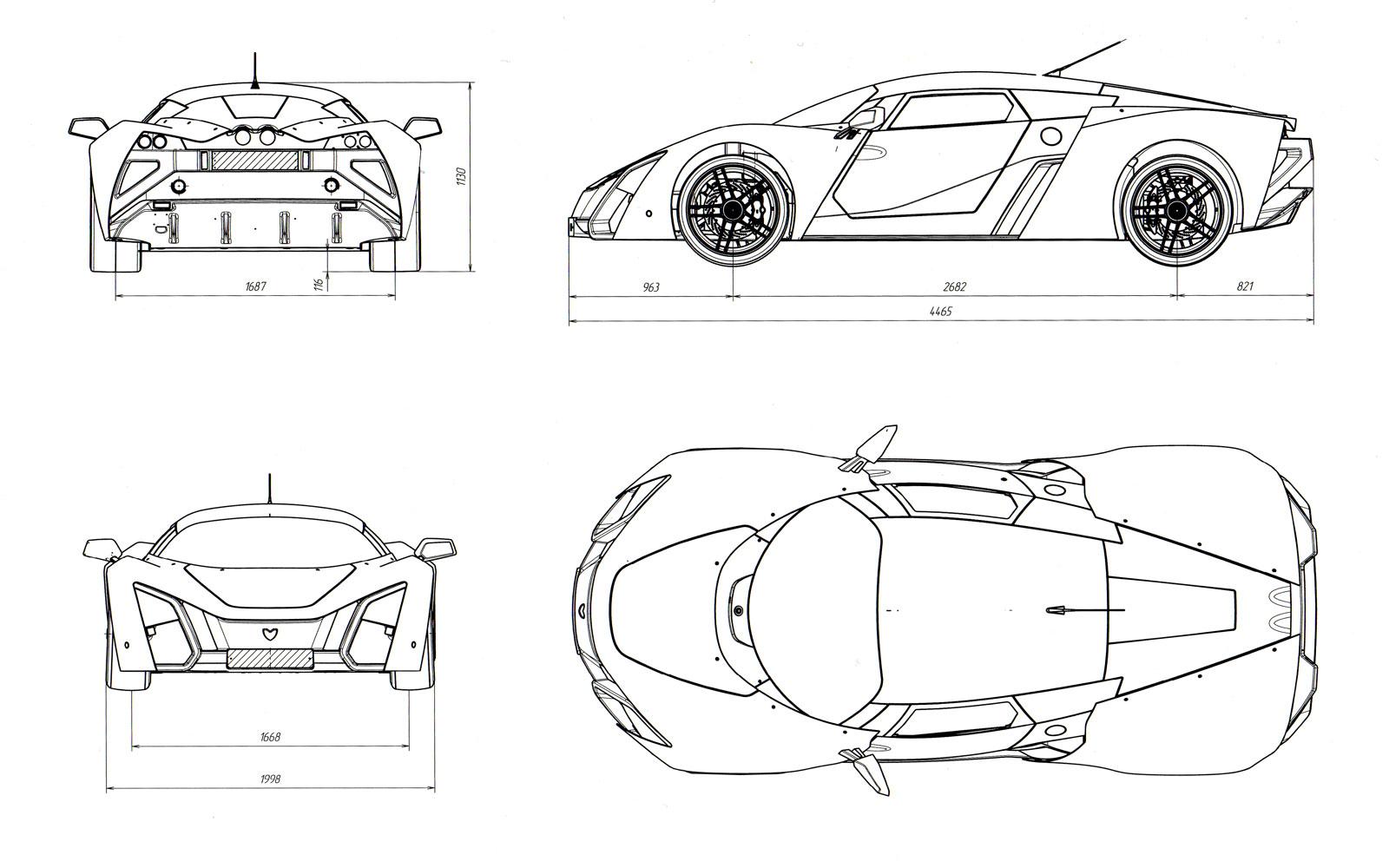 Marussia b2 blueprint car body design marussia b2 blueprint malvernweather Image collections