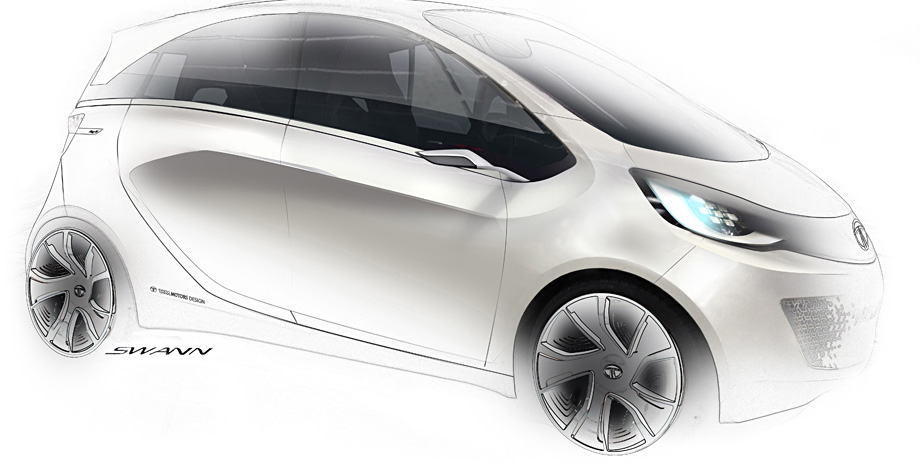 Tata Megapixel Concept Design Sketch Car Body Design