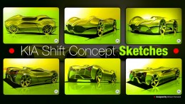 KIA Shift Concept - Design Sketches