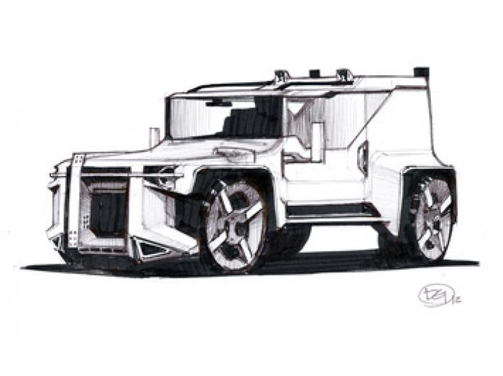 Concept car quick sketch - Car Body Design