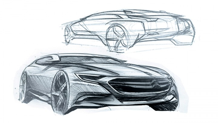 citro n num ro 9 concept design sketches car body design. Black Bedroom Furniture Sets. Home Design Ideas