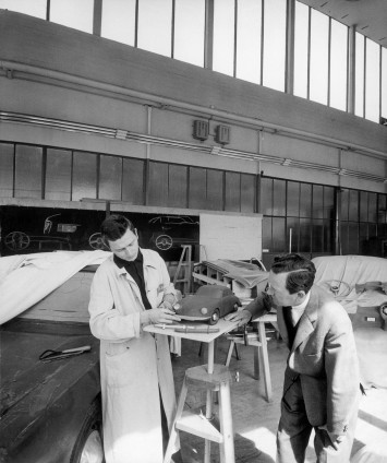Ferdinand and Ferry Porsche in the Design Studio (1959)