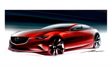 Mazda Takeri Concept Design Sketch