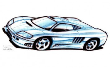 Saleen S7 - Design Sketch
