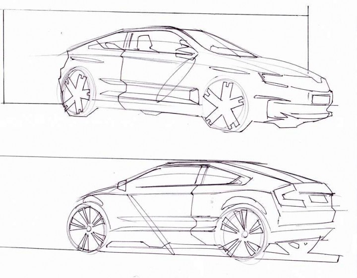 u0160koda rapid  preview sketches