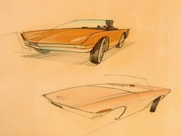 Studebaker Avanti Design Sketches by Raymond Loewy