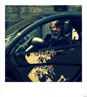 Luciano Bove on the Twizy at-SPD Milan