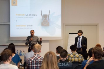 Renault Twizy presentation at SPD - Patrick Lecharpy and Luciano Bove