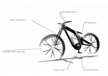 Audi e-bike Worthersee - Design Sketch