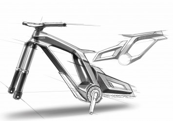 Audi e-bike Worthersee - Frame Design Sketch